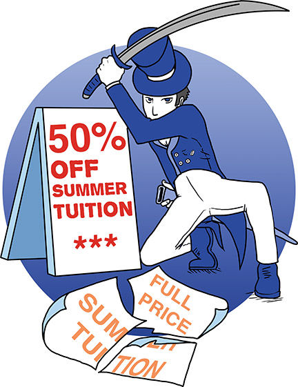 To boost summer enrollment, Washburn is offering a 50 percent discount on tuition for select summer courses.