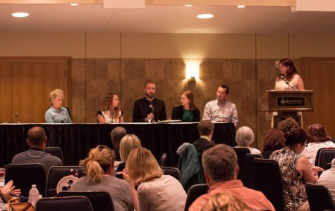 A panel speaks during lunch at this year's TCCOP.