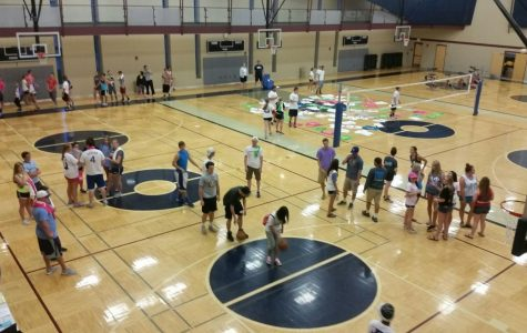 Rock the Rec gave students a chance to win prizes in volleyball and test skills in basketball.