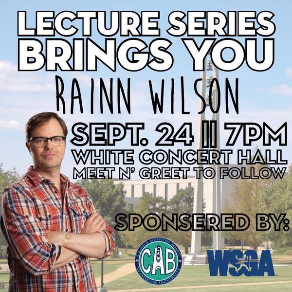 Rainn+Wilson+to+come+to+campus