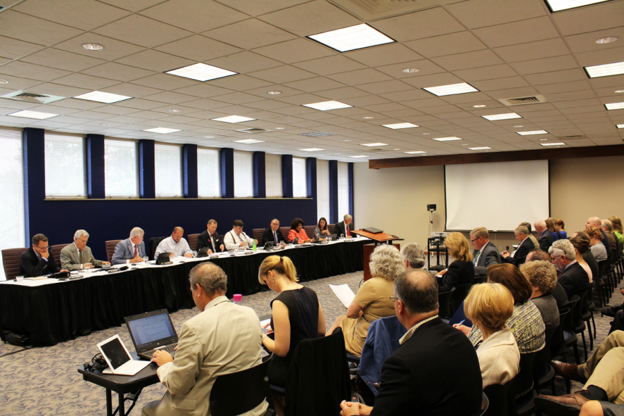 Washburn President Jerry Farley and the Board of Regents discuss various matters regarding the future of Washburn.