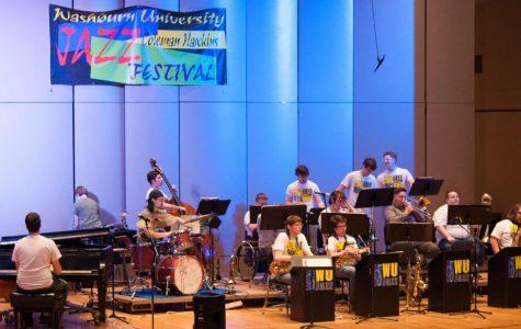 Washburn Jazz Ensemble beginning the final performance of Coleman Hawkins Jazz Festival.