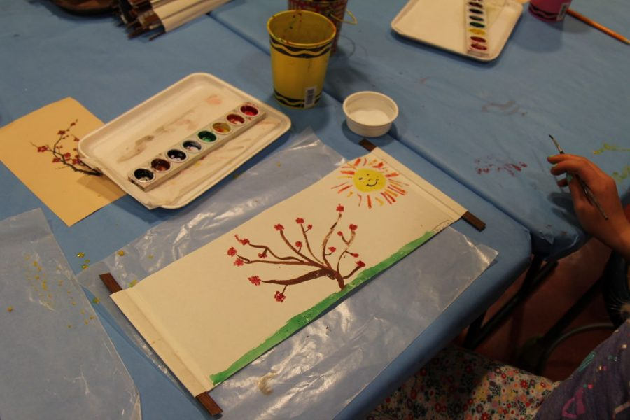 ArtLab assistants designed templates for attendees to draw inspiration from. Children at the event were encourages to use different mediums of art such as painting, drawing and mosaic.