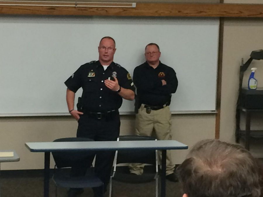 Law Enforcement: The Dallas Police Department visits Washburn University to discuss current social topics about police. Students were able to ask questions and receive feedback from the officers.