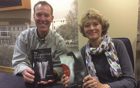 """Booked Solid: Steve Loe and Barbara Stuber sold and signed copies of their various novels in conjunction with the festival. """"The Glimpsing Book"""" was Loe's debut novel, and """"Girl in Reverse"""" was Stuber's second published novel. The festival also sold copies of past guest author's novels."""