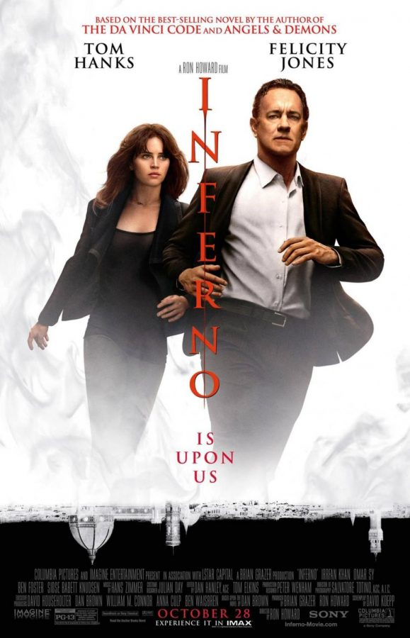 Hellbent: Tom Hanks and Felicity Jones race to prevent a global pandemic in 'Inferno.' Dan Brown's novel, the fourth featuring Robert Langdon, was published in 2013.