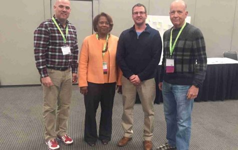 """Educators: A notable presentation held at NCTE was """"Poet Advocates: Using Poetry to Advocate for Teaching and Learning in the 21st Century."""" The four pictured from left to right: Dr. Bonner Slayton, Jocelyn Chadwick, Dr. Danny Wade and Dr. Michael Moore were each presenters."""