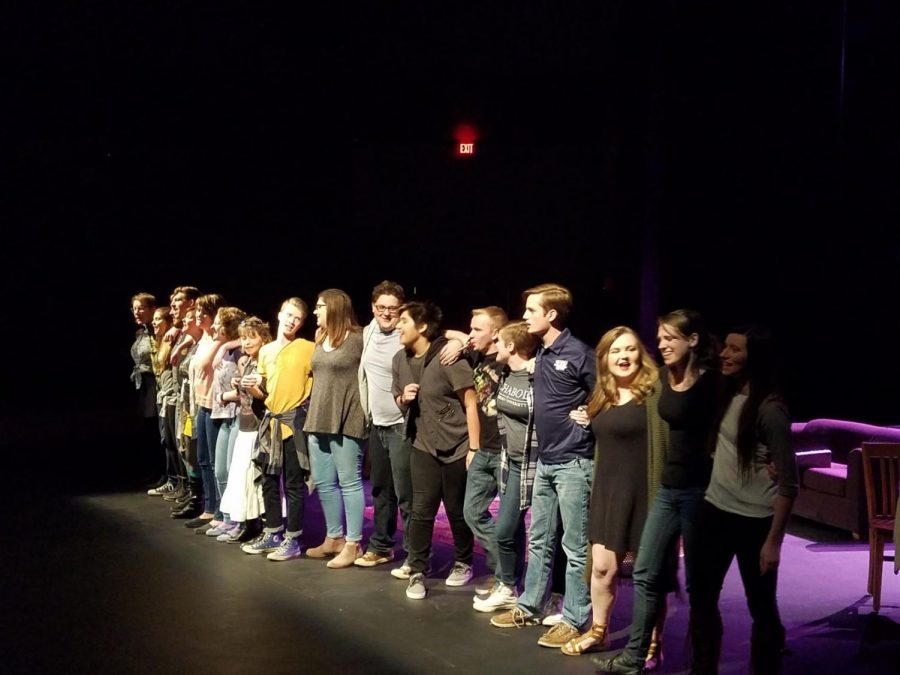 """Play us Out:The """"WU Words"""" cast spent an evening regaling stories from dozens of Washburn students. They concluded their performance with a rendition of """"Got to Get You Into My Life"""" by The Beatles, once again promoting the power of unity and friendship."""