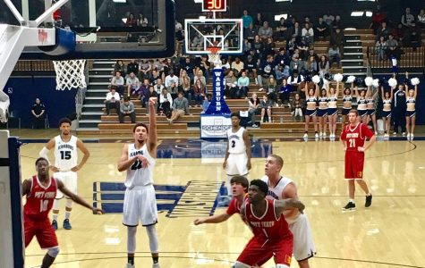 Bold Shot: Brady Skeens shoots a free throw Jan. 23 at a home game against Pittsburg State. Skeens led the Ichabods to win by 20 points against their opponents.