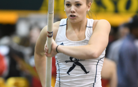 Focus: Pole vaulter Allexis Menghini was the only member of the women's or men's indoor track team to qualify for indoor track nationals, which will take place this weekend in Birmingham, Alabama. Menghini later broke her personal best again at the MIAA championships Feb. 25.  Her new personal best entering this tournament will be 3.79 meters.