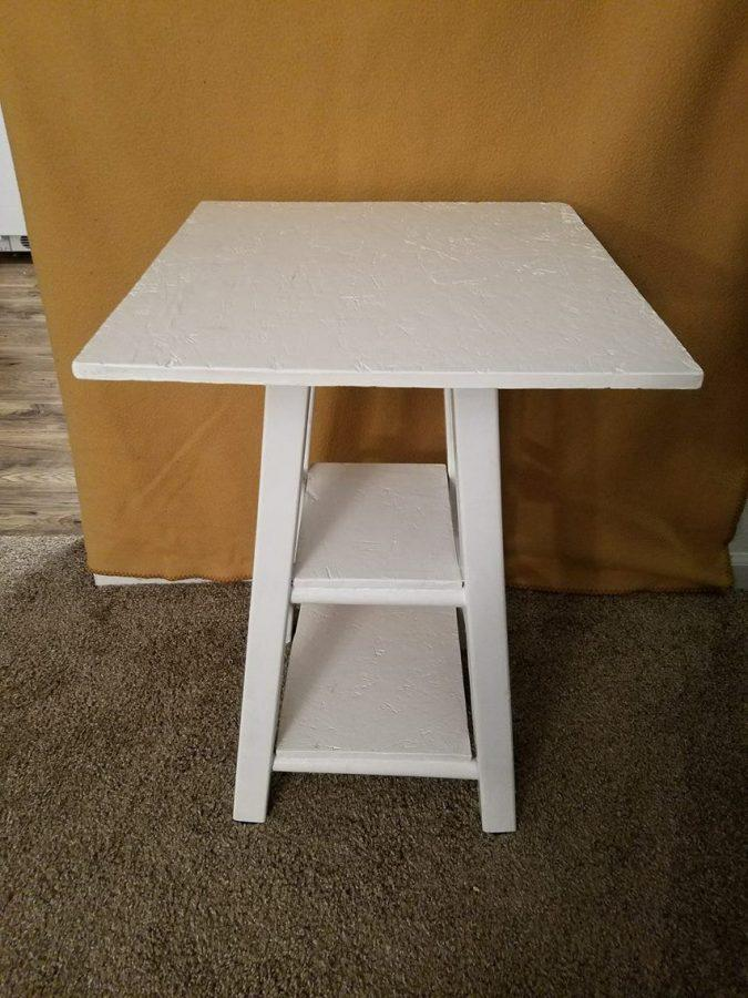 Repurposed Barstool End Table