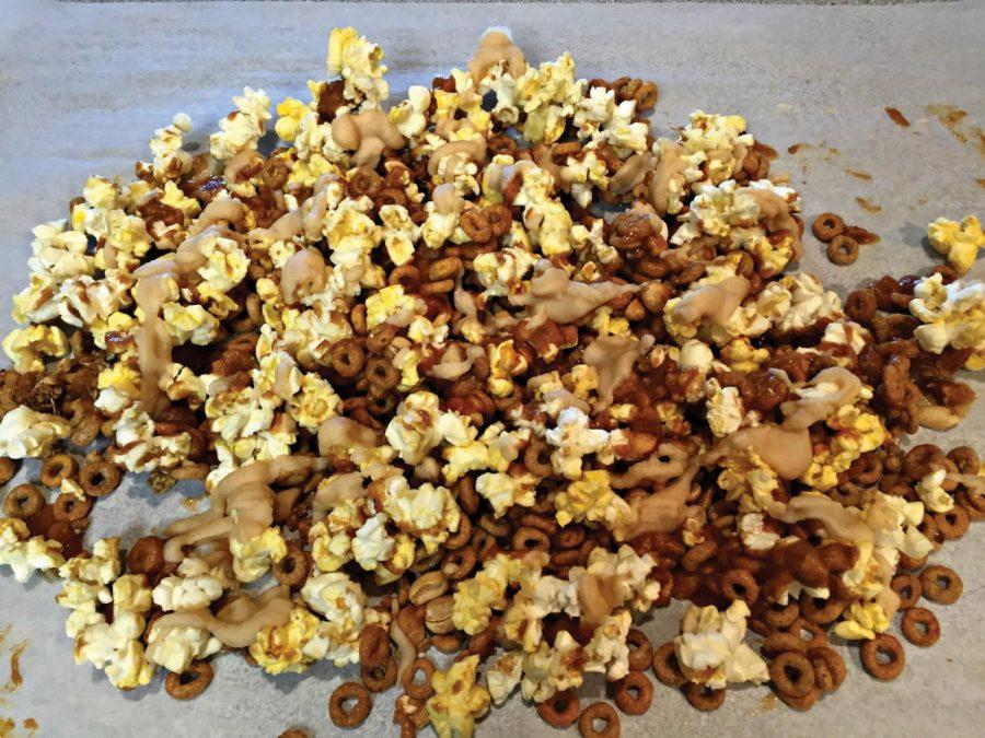 Cooking with Carney: Peanut Butter Popcorn Mix