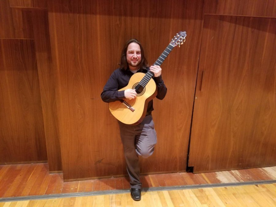 Start-up: Brent Ferguson is an adjunct professor at Washburn University who is working on creating a guitar program at Washburn's Music Department. While forming the program here at Washburn he is also pursuing a doctorate at Kansas University.