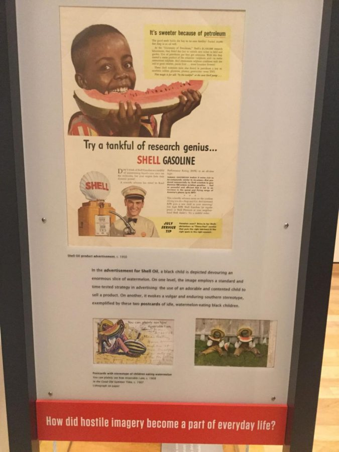 Propaganda%3A+This+image+is+an+example+of+how+white+Americans+used+advertisements+to+justify+racism+by+showing+how+racism+was+actually+beneficial+to+the+ones+being+dominated.+The+caption+under+the+exhibit+prompted+the+audience+to+think+about+the+role+of+images+in+influencing+perceptions.