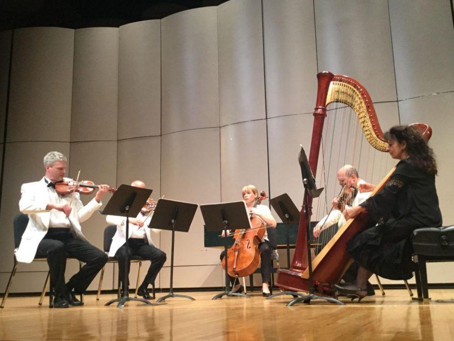 Consummate Musicians: From left to right Eric Tanner, Robert Schumitzky, Erin Breene, Mark Tukh, and Rita Costanzi play Arnold Bax's