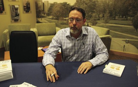 After his presentation, Mayfield had the opportunity to sell copies of his book, for which a portion of the sale would go to the Oregon Innocent Project.