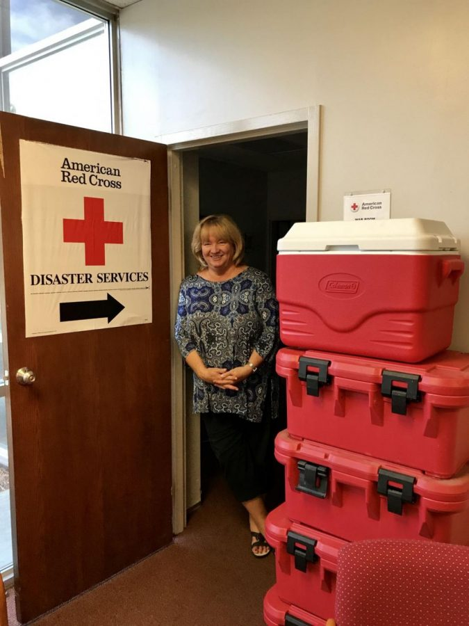 Disaster Ready: Jane Blocher, executive director for the American Red Cross Kansas Capital Area Chapter, helps to maintain the supplies to support those in crisis.