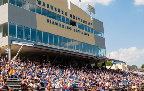 Faithful Washburn football fans pack the stands to watch the Ichabods take on another opposing team on their home turf.