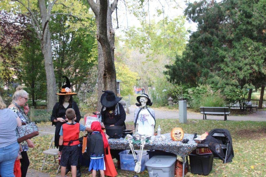 Candy-time: Boo at the Zoo is a sweet event, no matter which age. These scary witches entertained and handed out candy to any daring children brave enough to stop by.