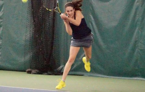 Madison Lysaught stays fierce as she fights against Oklahoma Baptist's No. 5 spot.
