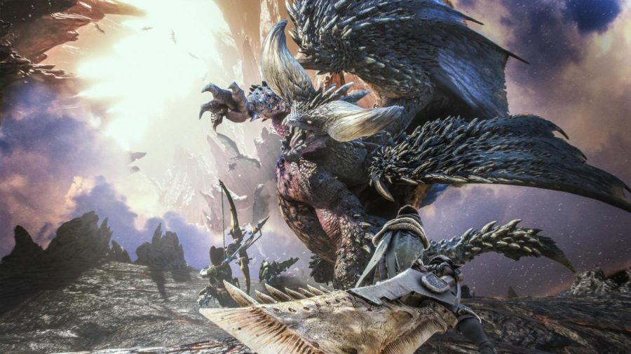 "Colossal: The titular beasts of ""Monster Hunter World"" are not your average battle. Many monsters like this Elder Dragon known as Nergigante are towering beasts that will require a lot of preparation to defeat. Taking down a monster may prove difficult, but the best way to increase your odds is to mount a structured attack with some allies."