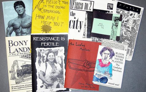 A handmade tale: Zines come in a variety of sizes and topics, as evidenced by this small collection found in the Colorado College Tutt Library.