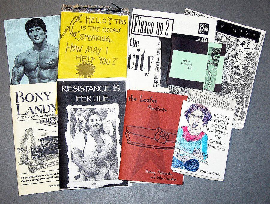 A+handmade+tale%3A+Zines+come+in+a+variety+of+sizes+and+topics%2C+as+evidenced+by+this+small+collection+found+in+the+Colorado+College+Tutt+Library.