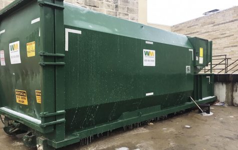 Taking out the trash: A new trash compactor and recycling compactor can now be found on Washburn's campus. This recycling compactor was placed behind the Union.