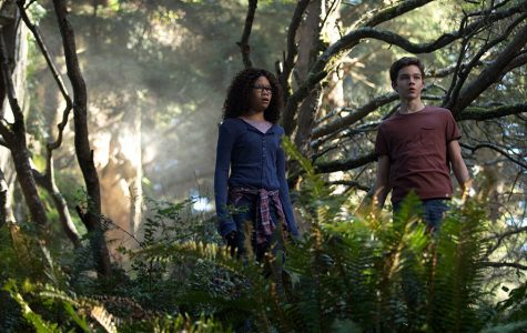 Wonder in their eyes: Meg (Storm Reid) and Calvin (Levi Miller) stand in wonder at the scenery of the new world they have traveled to. Much like the rest of the film, this spectacular visual lasts too short to be able to truly enjoy its beauty.