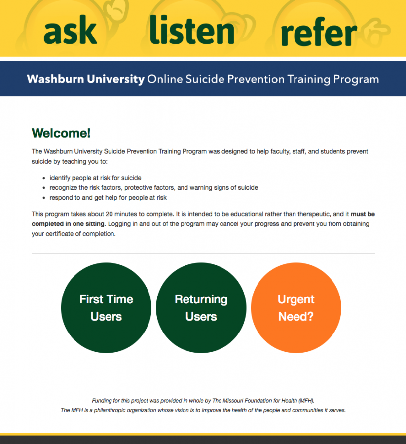 Suicide prevention with WU's new online training