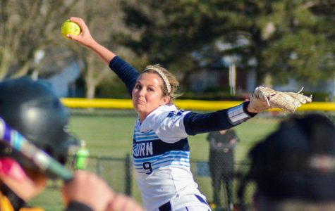 Winding up: Senior pitcher Kelsee Henry winds up her pitch against Missouri Western at the Washburn Softball Complex.