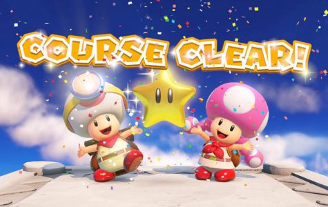 Toadette and Toad complete the puzzle