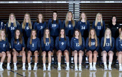 Washburn volleyball team.
