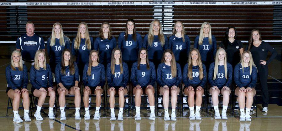 Washburn volleyball team.