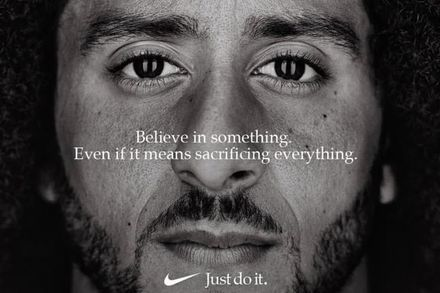 Nike%27s+decision+to+use+Colin+Kaepernick+as+the+new+face+of+their+%22Just+do+it%22+ad+campaign+has+caused+controversial+backlash.
