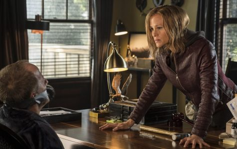 Jennifer Garner trying to be intimidating in