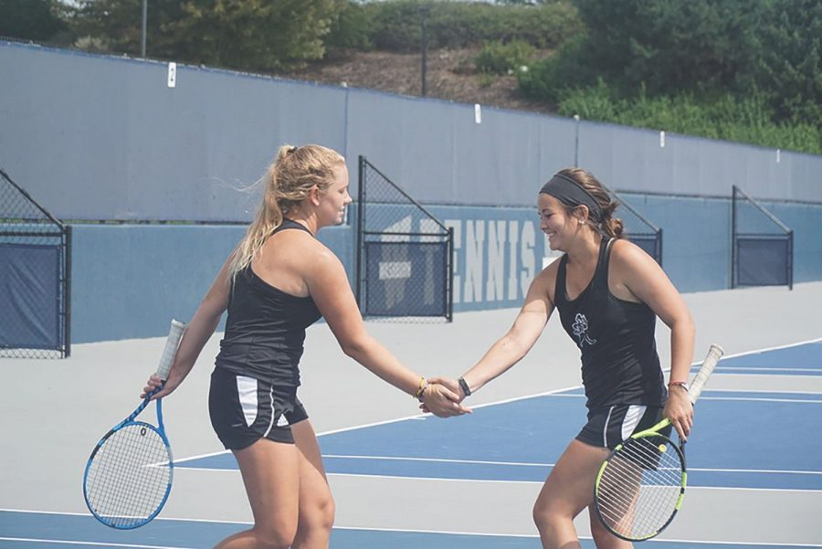 Tennis competes against neighboring teams in scrimmage tournament