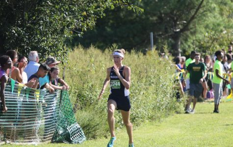 Long strides:Jacob Klemz competes in a race. Klemz recently earned national recognition for his success.