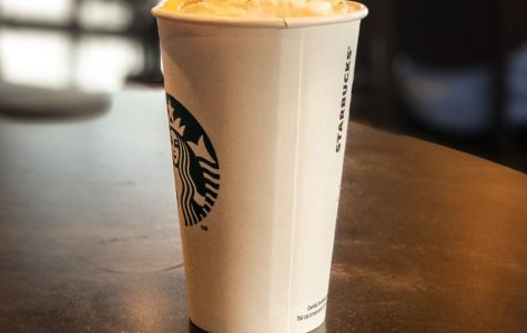 "Fall in a cup?: The pumpkin spice latte remains one of fall's most popular drinks at Starbucks. ""About one in every five drinks is a pumpkin spice,"" said Lauren Abbey, nursing student and Starbucks employee."