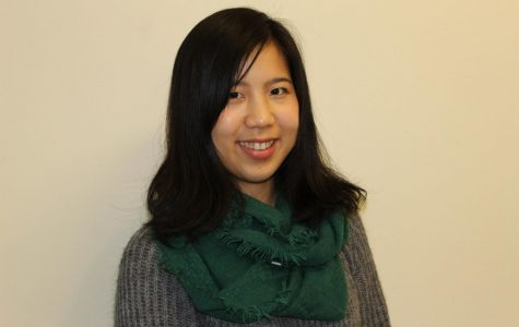 Tech-savvy: Haruka Muratani is a senior international student from Japan. She hopes to be a successful freelance computer programmer after graduating.