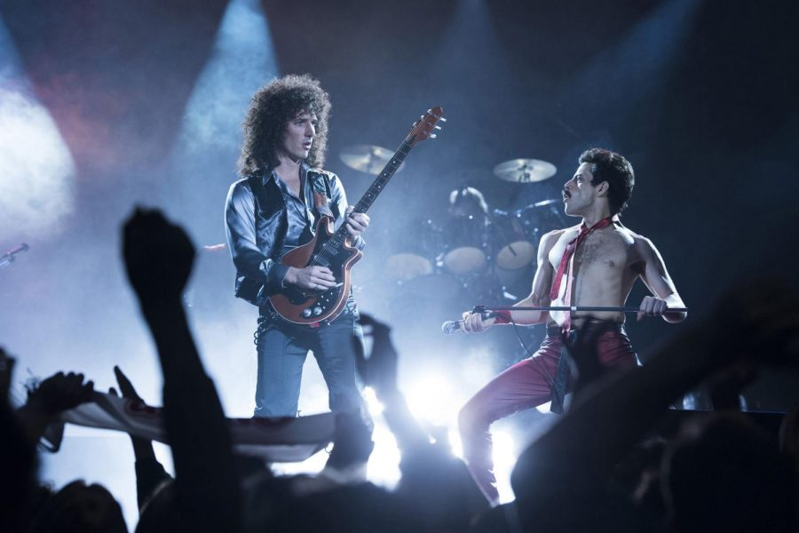 Killer+queen%3A%C2%A0%C2%A0Although+there+are+plenty+of+issues%2C+there+is+still+fun+to+be+had+in+Bohemian+Rhapsody.%C2%A0Brian+May+%28Gwilym+Lee%29%C2%A0+and+Freddie+Mercury+%28Rami+Malek%29+starred+in+Bohemian+Rhapsody.