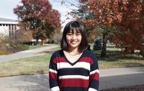 Exploring the world: Kasumi Sawaki is a sophomoreJapanese international student majoring in business management.She organized many international activities on campus.
