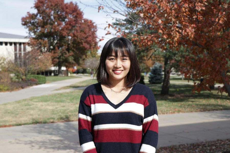 Exploring+the+world%3A+Kasumi+Sawaki+is+a+sophomore%C2%A0Japanese+international+student+majoring+in+business+management.%C2%A0She+organized+many+international+activities+on+campus.
