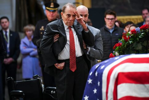 May+he+rest+in+peace%3A%C2%A0Former+Senator+Bob+Dole+gave+his+last+salute+to+the+late+President+Bush.+The+funeral+for+President+Bush+was+on+Dec.+6.
