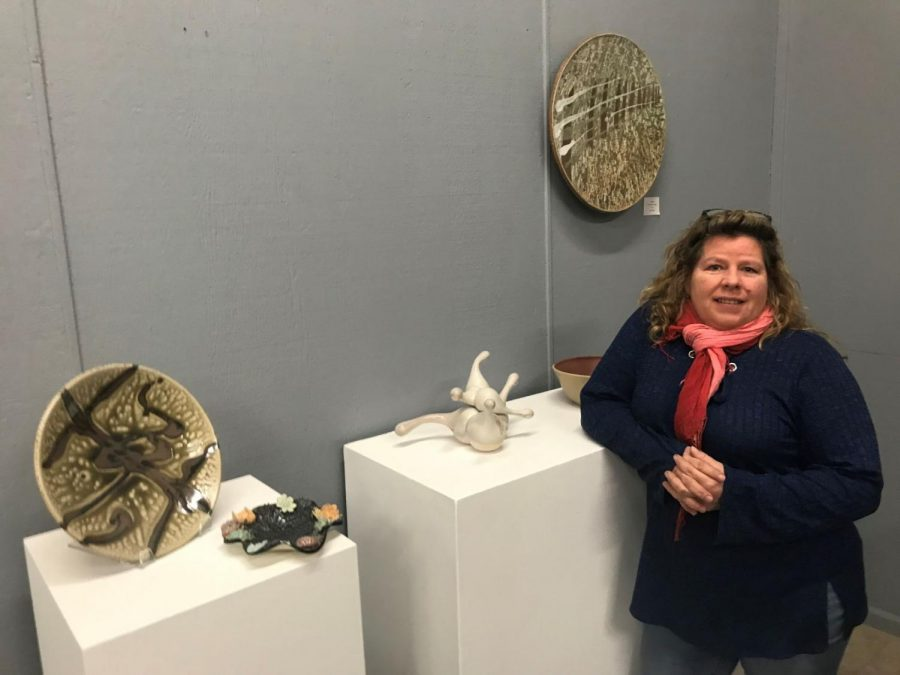 Hard work paid off: Monette Mark showcases art at Fire Me Up Ceramics and Fine Arts Studios. The studio will have its official ribbon cutting ceremony at 6 p.m. Friday, February 2.