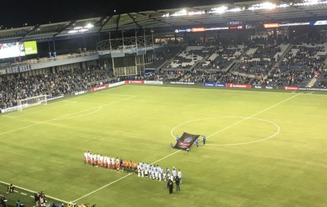 Sporting home: Sporting Kansas City starts pregame rituals before the Concacaf Champions League matchup with Toluca. Sporting KC won, 3-0.