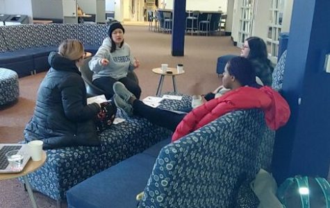 Time to talk: Becky Bolte hosts open discussions called Coffee Talks that promote acceptance and tolerance. Students were able to discuss the topic of asexuality.