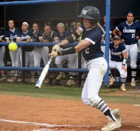 Run+hard%2C+turn+left%3A%C2%A0Senior+softball+player+Samantha+Stallbaumer+turns+and+prepares+to+run+after+hitting+the+ball+in+a+game.%C2%A0Stallbaumer+started+her+second+season+at+Washburn+with+a+batting+average+over+.450.%C2%A0%C2%A0