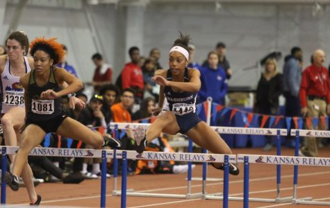 Upperclassmen:Tyjai Adams is in the midst of her third season on the Washburn track team. She is one of the few athletes who has been here for all three years of the revamped program.