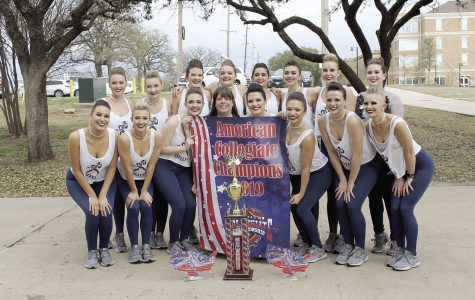 Triple Threat: The Dancing Blues traveled to Denton, Texas, to compete in the American Drill Team National Competition. The team brought home two category championships and overall Division 2 champions.
